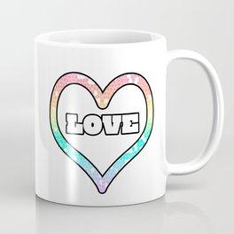 Pastel Love Mosaic Heart Graphic Design  Coffee Mug