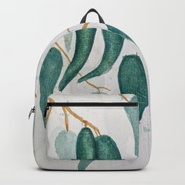 Watercolour Gum Leaves Backpack
