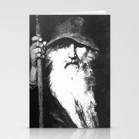 mythology Stationery Cards featuring  Scandinavian Mythology the Ancient God Odin by taiche