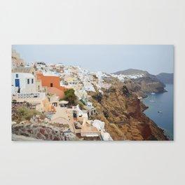 Santorini Cliffside Canvas Print