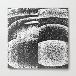 Monochrome Shades Metal Print