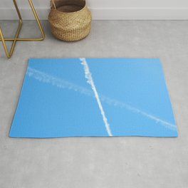 Contrails in the Blue Rug