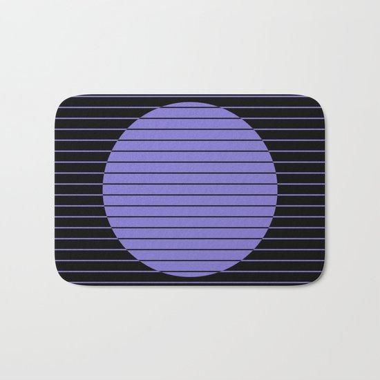 Difference (Minimalistic, pastel blue and black, geometric design) Bath Mat
