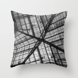 Liverpool Street Station Glass Ceiling Abstract Throw Pillow