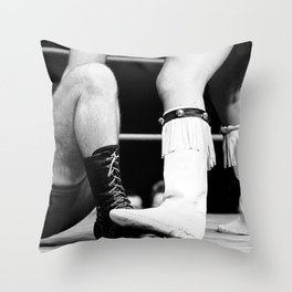 wrestling boots Throw Pillow