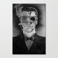 smoking Canvas Prints featuring Smoking by Havier Rguez.