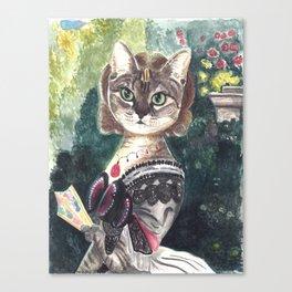 Clouzie Pink Panther Cat Canvas Print