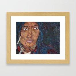 TIBETAN WOMAN Framed Art Print