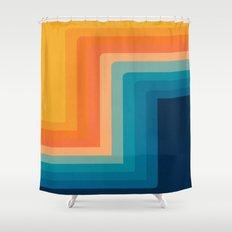 Retro 70s Color Lines Shower Curtain
