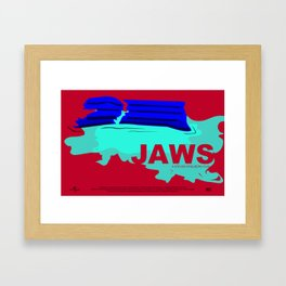 Jaws Movie Poster Framed Art Print