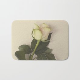Dusky pink rose Bath Mat