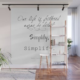 Simplify Quote Wall Mural