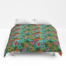 Pattern kitties and flowers Comforters