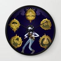 marceline Wall Clocks featuring Marceline v1 by Pablo González Mora