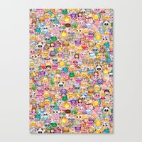 emoji Canvas Prints featuring emoji / emoticons by Marta Olga Klara