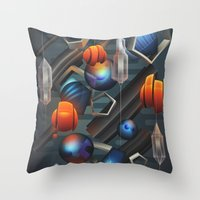 geo Throw Pillows featuring Geo by Tomas Brechler