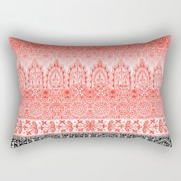 crochet lace in red Rectangular Pillow