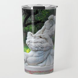 Samson And The Lion Travel Mug