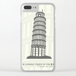 figure leaning tower of Pisa in Italy Clear iPhone Case