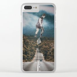Gym guy Clear iPhone Case