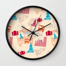 Travel Fever Wall Clock