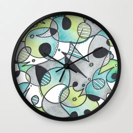 Abstract Critters Wall Clock
