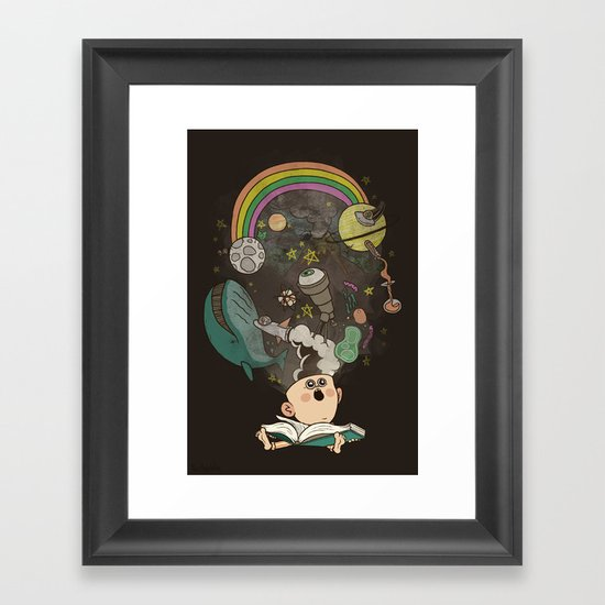 Let's Go Explore Framed Art Print