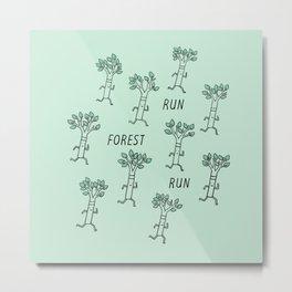 Run Forest Run Metal Print