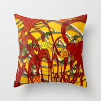 numbers Throw Pillows featuring Numbers by LoRo  Art & Pictures