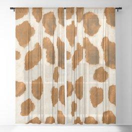 Wild Giraffe Print Sheer Curtain
