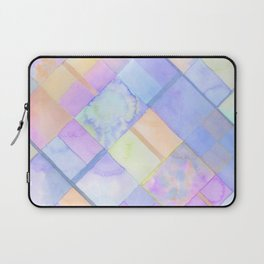 Geometric Watercolor Oranges and Blues Laptop Sleeve