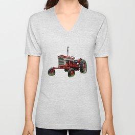 International Harvester Farmall 240 Red Tractor McCormick Deering Unisex V-Neck