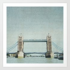Letters From the Tower Bridge - London Art Print