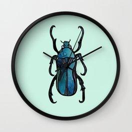 Blue Beetle- Teal Wall Clock