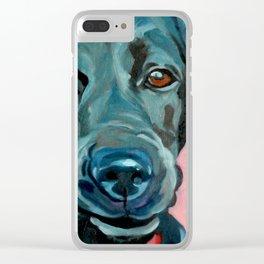Black Labrador Polly Clear iPhone Case
