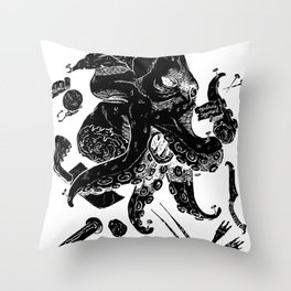 Monster Autopsy - Negative Throw Pillow