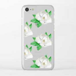 Southern Magnolia Clear iPhone Case
