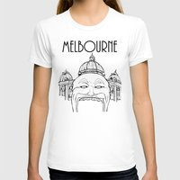 melbourne T-shirts featuring Melbourne by Jeremy Buckley illustration