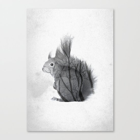 Up The Branches Canvas Print