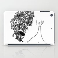 anxiety iPad Cases featuring Anxiety by Jacquelyn Anthony