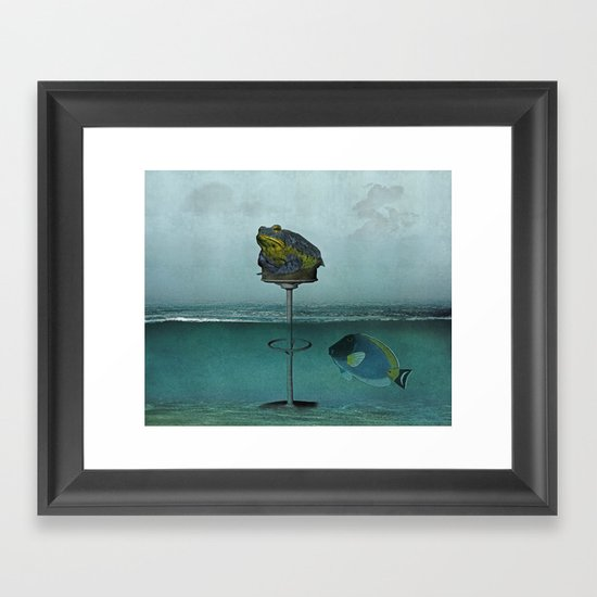 Toadstool Obviously Framed Art Print