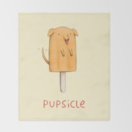 Pupsicle Throw Blanket