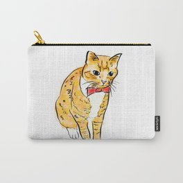 CAT WITH A BOW TIE Carry-All Pouch