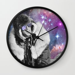 People of the Universe-Space Glasses-Purple Wall Clock