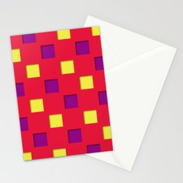 Japanese checkered pattern #9 Stationery Cards