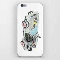 delorean iPhone & iPod Skins featuring The Delorean by Josh Ln