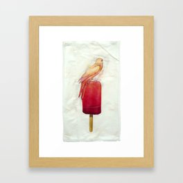 Strawberry Canary Popsicle Framed Art Print