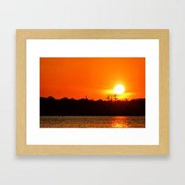 Lake Martin Sunset Framed Art Print