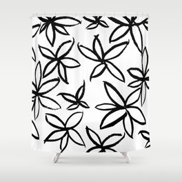 Big Floral Shower Curtain