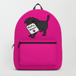 Cute Dog with Nasty Woman Sign Backpack